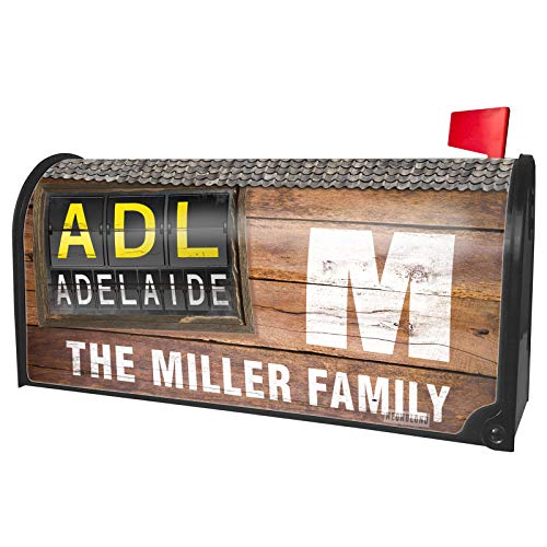 NEONBLOND Custom Mailbox Cover ADL Airport Code for Adelaide