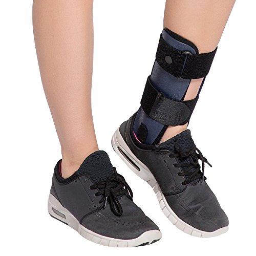 Velpeau Ankle Brace Support Medical Orthopedic Postop Rigid Foam Splint for arthritis sprain fracture pain relief tendon Stabilizer relaxation Severe dislocation injury(Left Foot-Medium)