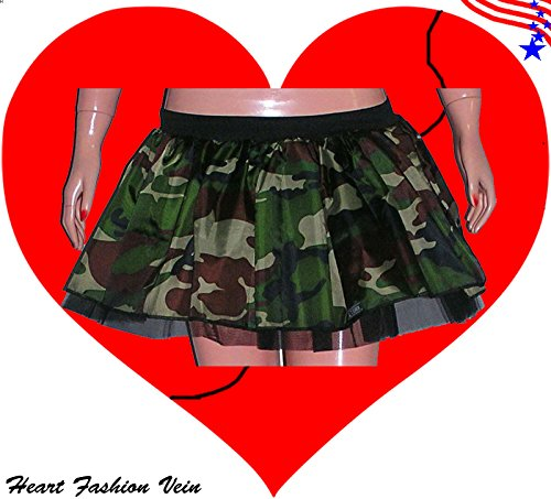 Mens Costumes Burlesque (Camouflage Camo Army Militray Tutu Skirt Halloween Fancy)