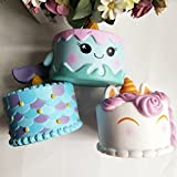 Jumbo Rising squishies lento colgantes de unicornio kawaii squishies crema perfumada juguetes para niños y adultos