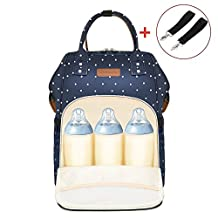 Diaper Bag Backpack, Multi-Function Waterproof Lightweight Nappy Bag With Stroller Straps for Travel with Baby, Large Capacity, Stylish and Durable (Blue)