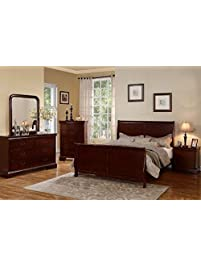 poundex louis phillipe bedroom set - Full Set Bedroom Set