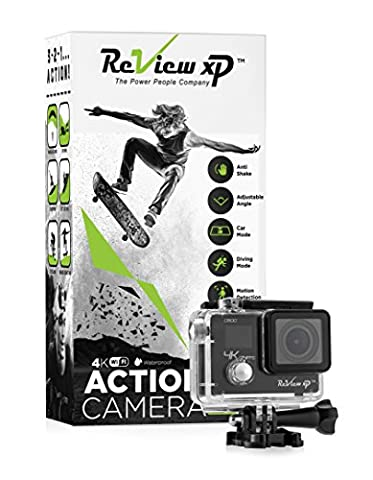 Review XP C600 Action Camera 4K 16MP Ultra HD Sports Waterproof Wi-Fi 170° Wide Angle Lens DV Digital Camcorder 4x Zoom Lens Dual Screen DV Digital Camcorder Bundle of 20+ Mounting Kits & (Waterproof Camera With Zoom)