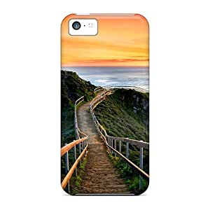 Slim Fit Tpu Protector Shock Absorbent Bumper Sunset In California Case For Iphone 5c