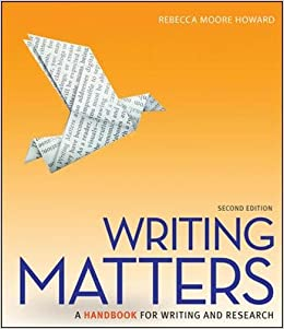 Writing Matters: A Handbook For Writing And Research (Comprehensive Edition With Exercises) Free Download