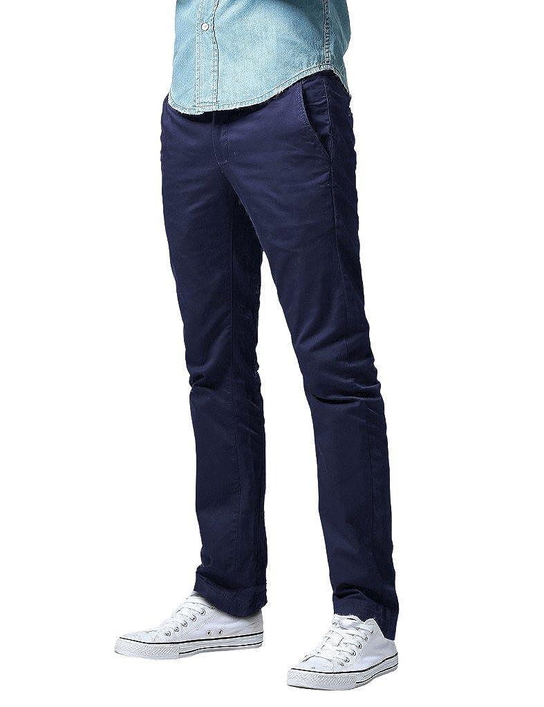 Pantalones Chino Slim Fit Casual de Algod/ón para Hombre Match 8036