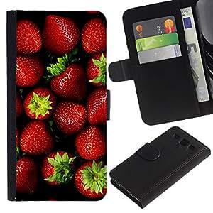 KingStore / Leather Etui en cuir / Samsung Galaxy S3 III I9300 / Baies Été vert