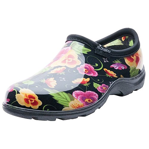 Sloggers 5114bp08 Size 8 Women'S Pansy Print Rain & Garden Shoes Pansy Print Rain