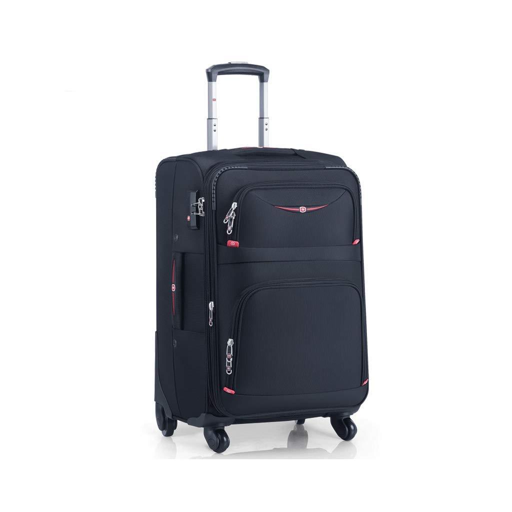 CATRP ラゲージボックス、アルミフレームトロリーケースユニバーサルホイールパスワードボックス搭乗用スーツケース耐摩耗性と耐引掻き性 (色 : A, サイズ さいず : 37X24X58CM) 37X24X58CM A B07QSR5WBW