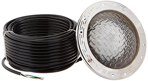 (Pentair 78928500 Amerlite Underwater Incandescent Pool Light with Stainless Steel Face Ring, 120 Volt, 100 Foot Cord, 300 Watt)