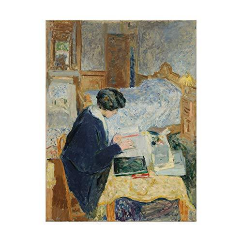 Trademark Fine Art Lucy Hessel Reading by Edouard Vuillard, 35x47, ()