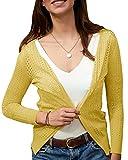 Geckatte Womens Summer Cardigans Lightweight Long Sleeve Crochet Open Front Knit Sweater Tops
