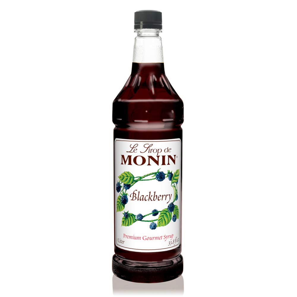 Monin - Blackberry Syrup, Soft and Succulent, Great for Cocktails, Lemonades, and Sodas, Gluten-Free, Vegan, Non-GMO (1 Liter)