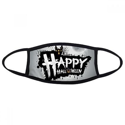 DIYthinker Fantasma de Halloween miedo la cara feliz anti-polvo máscara anti fría Maske regalo