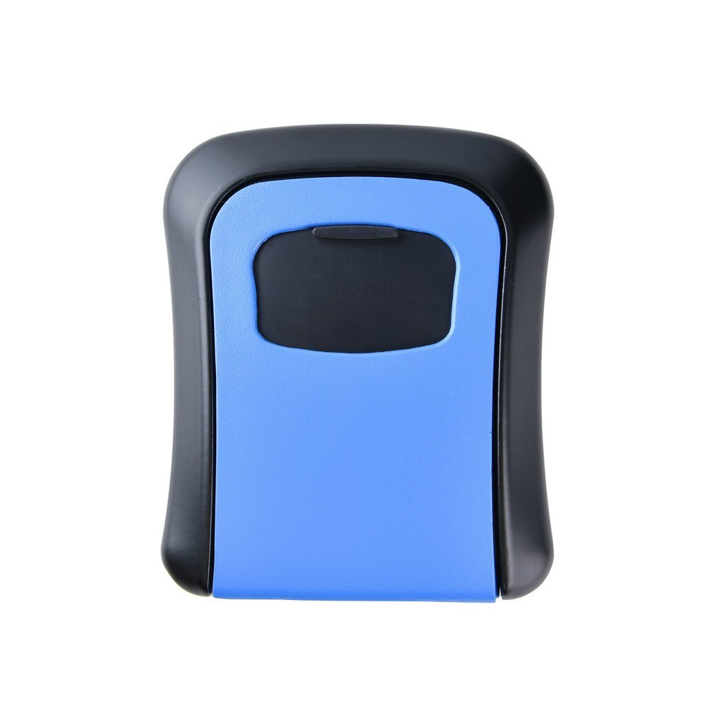 Fityle Wall Mounted Waterproof Key Lock Box Cash Key Safe Box for Indoor Outdoor - 2# Blue