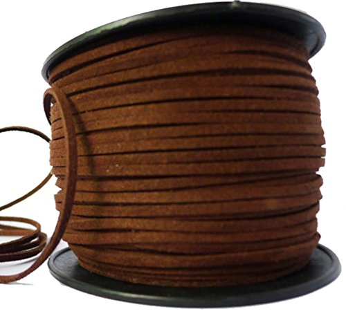 lanshi-3mm-flat-leather-lace-beading-thread-faux-suede-cord-string-velvet-dark-brown-10-meters