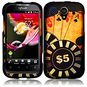 Compatible with Huawei myTouch U8680(T Mobile) Rubberized Design Cover - Ace Poker