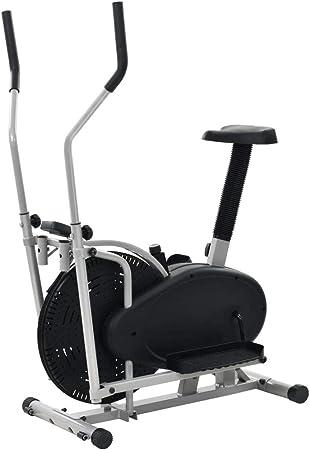 UnfadeMemory Bicicleta Elíptica con Ventilador de 50cm,Sillín ...