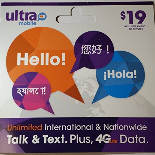 Ultra Mobile Dual Cut SIM (Micro and Regular) + $19 Plan FREE by Ultra Mobile