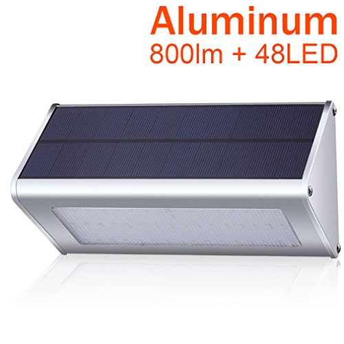800 Lumen Solar Lights Outdoor, Bensnail Radar 48 LED Motion Sensor Light (Stainless Flagpole Socket)