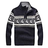 COPPEN Christmas Men Sweater Reindeer Snow Snowflakes Xmas Shirt Top