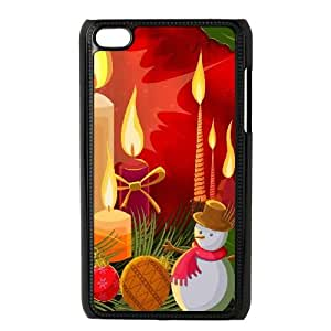 Christmas Candles Illustration iPod Touch 4 Case Black Protect your phone BVS_652081