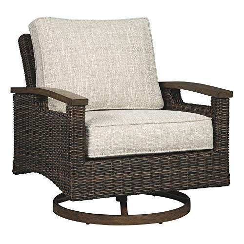- Signature Design by Ashley P750-821 Paradise Trail Swivel Lounge Chair (2/CN), Medium Brown