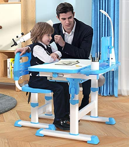 KIDS DESK AND TABLE SET,Height Adjustable Children Study Table and Chair Set