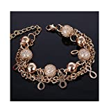 4 pics 1 word 7 letters - CAIYCAI Women Gold Color Multilayer Beaded Pendant Bracelets Bangles Heart Charm Bracelet Jewelry 2 onesize