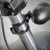 KiWAV Motorcycle Indicator turn signal Bracket Holder Black for 30~39mm fork