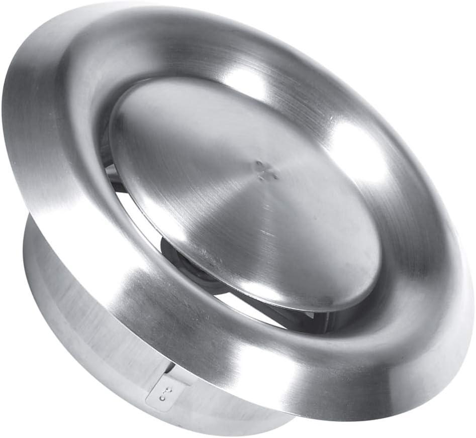 100Mm Gojiny R/églable /Évent Dair Acier Inoxydable /Évent Rond Couvercle de Conduit de Ventilation pour Salle de Bain Bureau Cuisine Ventilation