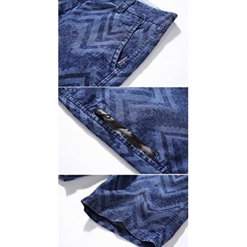 Baymate Bermudas Shorts Hombre de Estilo Jeans Pantalón Roto Stretch de Vintage Slim Fit Vaqueros Cortos 7UqE0pfW