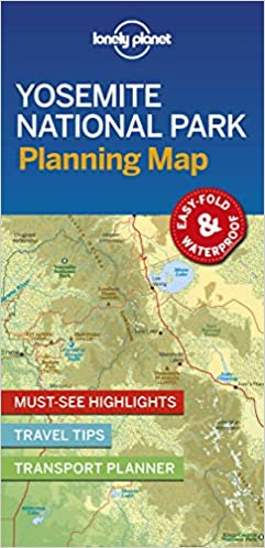 Cartina Yosemite National Park.Amazon It Lonely Planet Yosemite National Park Planning Map Lingua Inglese Lonely Planet Libri In Altre Lingue