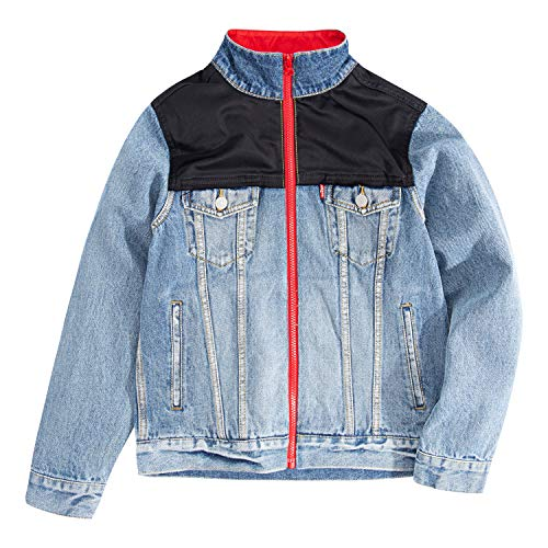 Levi's Boys' Big Denim Trucker Jacket, Asbury Park, L
