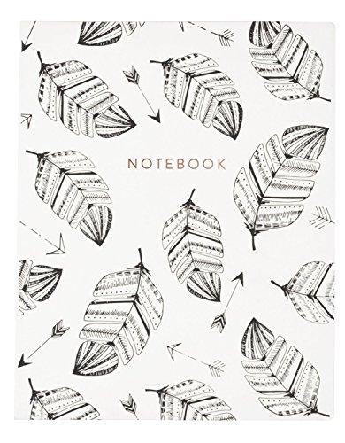 """Eccolo World Traveler 8 x 10"""" Desk Journal, Leaves Notebook (D505S)"""