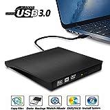 Gotega External CD/DVD Drive for Laptop, USB 3.0 Portable CD DVD +/-RW Drive Slim DVD/CD ROM Rewrite Burner Writer with High Speed Data Transfer for Laptop/Mac Book/Desktop/Windows7/8, Black