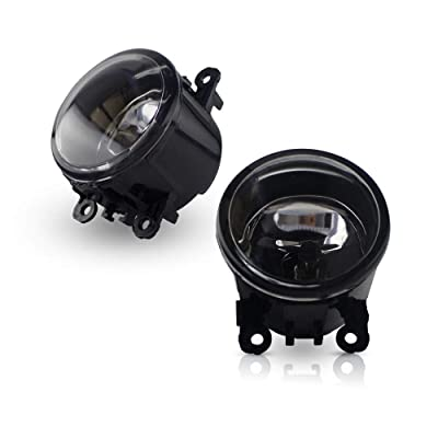 Fanlide A Pair Fog Light Lamp Assembly Front for Ford Acura Honda Nissan Subaru Suzuki Lincoln: Automotive