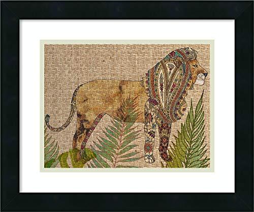 (Framed Wall Art Print | Home Wall Decor Art Prints | Rattan Jungle I by Chariklia Zarris | Modern Contemporary Decor)