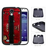 Red Color Dirty Grunge Honda JDM Vtec Samsung Galaxy S4 I9500 Rubber Silicone TPU Cell Phone Case