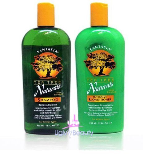 Fantasia IC Tea Tree Naturals Shampoo and Conditioner 12 Ounces Each (Fantasia Ic Leave)