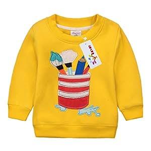 Sudaderas para Niños Navidad ciervos Bebé Camisetas de Manga Larga Niñas Sweatshirt Tops Vine 3 años
