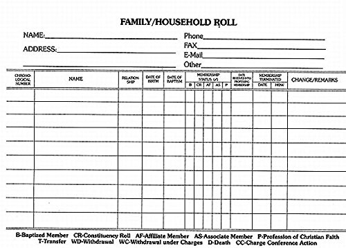 Read Online Family Household Roll Card (Pkg of 100) pdf