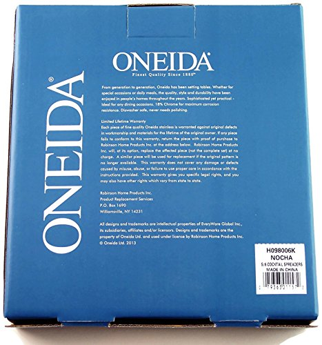 Oneida Nocha 6 Cocktail Spreaders Stainless Steel by Oneida (Image #2)