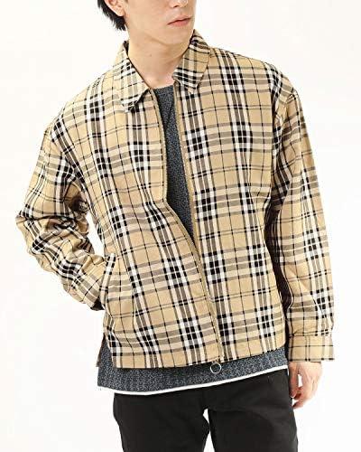 スイングトップ ジャケット メンズ ドロップショルダー ビッグシルエット ガンクラブ タータンチェック グレンチェック