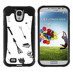 "Pulsar iFace Series Tpu silicona Carcasa Funda Case para Samsung Galaxy S4 IV I9500 , Papel Mano Blanca Gris Profundo"""