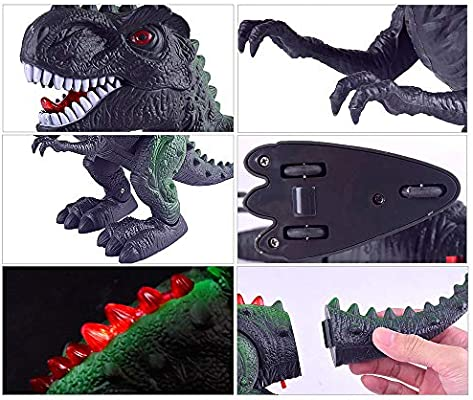 Amazon.com: LtrottedJ Walking Dragon Toy Electric Roaring Tyrannosaurus Rex Dinosaur: Toys & Games