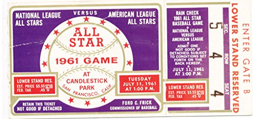 1961 All Star Game SF Candlestick stub ex ()