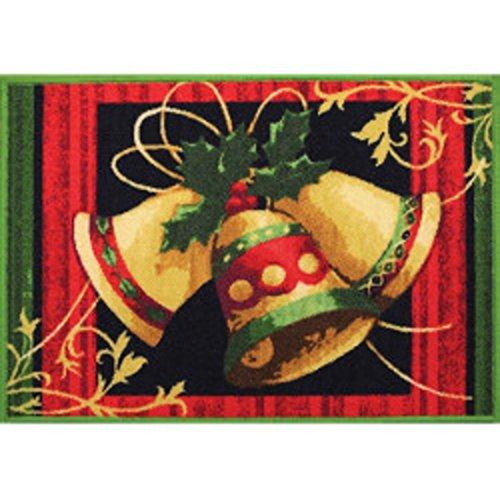 St Nicholas Straightforward Bells A Ringing Christmas Printed Accent Rug 20 x 30