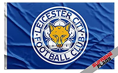 Leicester City Flag Banner 3x5 ft Foxes Blue England Premier Football Soccer