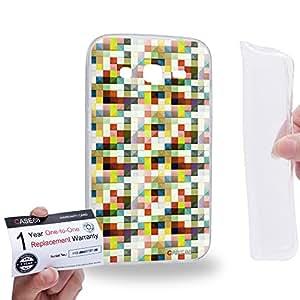 Case88 [Samsung Galaxy Core Prime G360] Gel TPU Carcasa/Funda & Tarjeta de garantía - Art Design Color Mix Puzzle Geometric 1568
